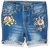 VIGOSS Girls' Toddler Bermuda Short, Flower Show Antique wash, 4T