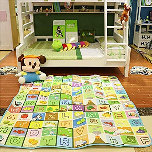 COROID Baby Mats Waterproof Play Mat for Kids Extra Large Size Crawl Thick Double Sided Non-Slip Reversible Portable Mat Use for Outdoor/Picnic/Beach/Travel 6 x 5 Feet (Multi.Design and Color)