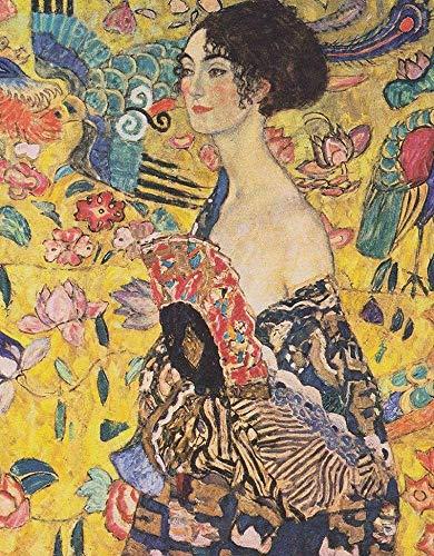 HJJL 1000 Pezzi di Puzzle per Adulti - Gustav Klimt, Famoso Famoso Dipinto ad Olio, Donna con...