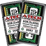A-Tech 8GB (2x4GB) DDR3 1333MHz SODIMM PC3-10600 CL9 204-Pin Non-ECC Unbuffered Notebook Laptop RAM Memory Upgrade Kit