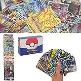 YNK 200Pcs Pokemon Cartes, Flash Cartes, Sun & Mood Series, Pokemon GX Cartes...