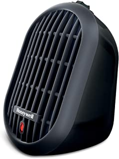 Honeywell HCE100B Heat Bud Ceramic Heater Black Energy Efficient Space Saving Portable..