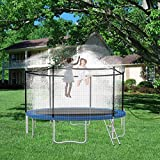 WHOISHE Trampoline Water Sprinkler for Kids - Boys Girls Fun Summer Outdoor Water Game Sprinkler Accessories - Made to Attach On Safety Net Enclosure