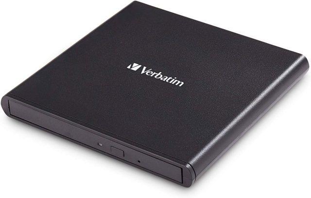 Verbatim External Slimline CD/DVD Writer I USB 220.20 I moblies Laufwerk I  Nero Burn & Archive-Software inklusive I Externer DVD-Brenner I Externes