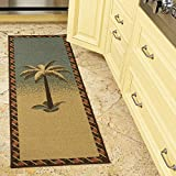 Ottomanson Sara's Kitchen runner rug, 20'X59', Multicolor Tropical Palm