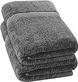 Utopia Towels - 2 Serviette de Bains, draps de Bain (90 x 180 cm) (Gris)