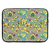 Funda para portátil con ilustración de Actividad en Carretera Abstracta, maletín para portátil, Estuche de Viaje Suave para Tableta, 13 Pulgadas