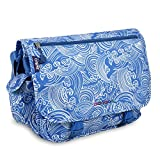 J World New York Terry Messenger Bag, Wave, One Size