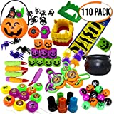 THE TWIDDLERS 110 Pack - Halloween Assortment Toys Party Favor | Halloween Supplies Goodie Bag Filler | Pinata Fillers | Trick or Treat Toys | Classroom Bulk Prizes
