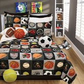 Safdie & Co. All Stars Collection 3 Piece Quilt and Sham Set, Full/Queen (60130.3DQ.04)