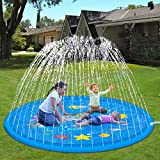 Hotdor Sprinkle & Splash Play Mat 68' Sprinkler for Kids Outdoor Water Toys for 3-12 Year Old Boys Girls Children Outdoor Party Sprinkler Toy Splash Pad