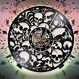 wtnhz Reloj de Pared con Disco de Vinilo LED luz LED Luminosa de 16 Colores, Reloj de Vinilo de 12' Movimiento de Cuarzo Reloj de Pared con CD clásico