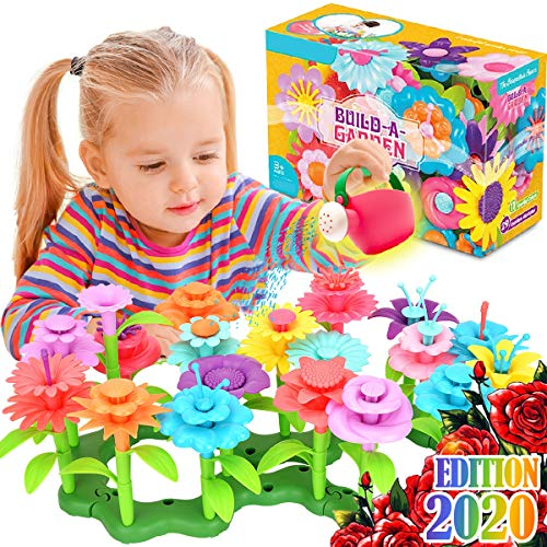 FunzBo Flower Garden Building Toys for Girls - STEM Toy Gardening Pretend Gift for Kids