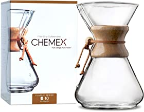 CHEMEX Classic Series, Pour-Over Glass Coffeemaker, 10 Cup – Exclusive Packaging