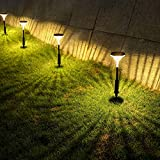 Solar Pathway Lights Outdoor 6Pack, Whousewe Solar Lights Outdoor Decorative 3 Light Modes Waterproof Bright LED Garden Lights, Auto On/Off Solar Landscape Lights for Pathway Yard Walkway Patio