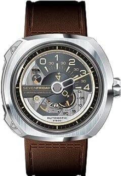 SEVENFRIDAY Men's Swiss Quartz Watch with Stainless Steel Strap, White (Model: V2-01)