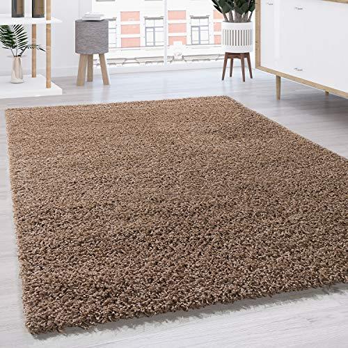 Shaggy - Tappeto A Pelo Lungo in Diversi Colori E Misure, Dimensione:160x220 cm, Colore:Beige