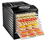 Chefman 9-Tray Food Dehydrator Machine Professional Electric Multi-Tier Food Preserver,...
