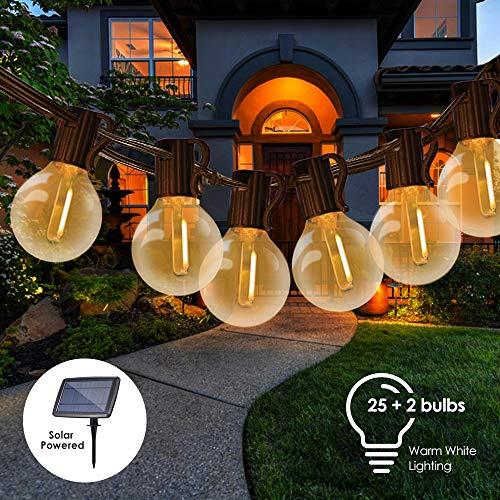 Catene Luminose Solare,Tomshine 25FT Impermeabile LED G40 Luci da Giardino con 25+2 Lampadine Luci...