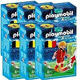 P 6 Joueurs de Foot Playmobil Sports