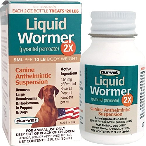 Durvet 2x LIquid Wormer, 2 oz, For Puppies and...