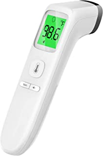 Touchless Thermometer, Forehead Thermometer with Fever Alarm and Memory Function, Ideal..