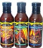 Walden Farms Calorie Free Sugar Free Carb Free Original, Hickory Smoked and Honey Barbecue Sauce (3...