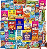 Blue Ribbon Care Package 50 Count Ultimate Sampler Mixed Bars, Cookies, Chips, Candy Snacks Box for Office, Meetings, Schools,Friends & Family, Military,College, Halloween, Fun Variety Pack