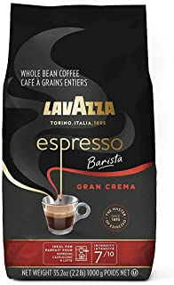Lavazza Espresso Barista Gran Crema Whole Bean Coffee Blend, Medium Espresso Roast, 35.2..
