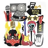 SUNBEAUTY Photobooth Musique Rock Decoration Guitare Accessoire pour Déguisement Masquerade Music...
