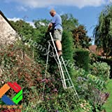Tripod Garden Ladders with Built-in Platform by Henchman 8' - (2.4m) All 3 Legs Fully Adjustable. Lightweight, Easy to Move Single-handedly. The Professional Gardeners' Choice.
