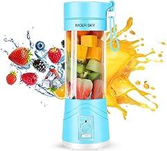 Portable Juicer Blender, Household Fruit Mixer – Six Blades in 3D, 380ml Fruit..