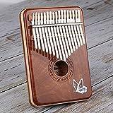 Murakush カリンバ 17キー 親指ピアノ サンダルウッド フィンガーピアノ 木製 Cトーン キーボード パーカッション インレイバタフライ チューニングハンマー 楽器ギフト
