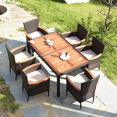 Tangkula 7 Pcs Outdoor Patio Dining Set Buy Online In Dominica At Desertcart