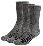 Alvada 80% Merino Wool Hiking Socks Thermal Warm Crew Winter Sock for Men Women 3 Pairs SM