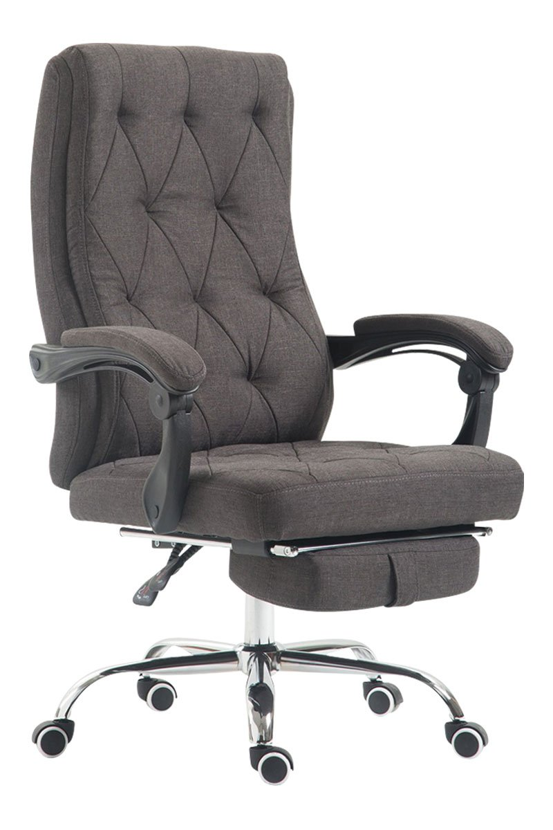 Luxury Fabric Office Swivel Chair Manager Boss Office Chair With Footrest Extra Padded Computer Chair High