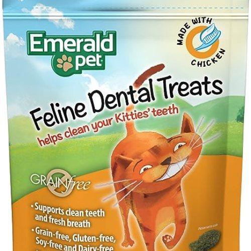 Emerald Pet Dental Cat Treats, Made in USA