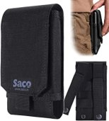 Saco Belt Waist Packs Pouch Holster Cover Case for Mobile Phone (Size L) Sports Fitness & Outdoors Running Jogging