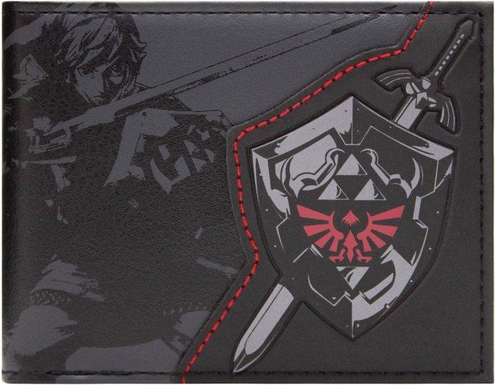 Cartera de Legend of Zelda Enlace Escudo Negro