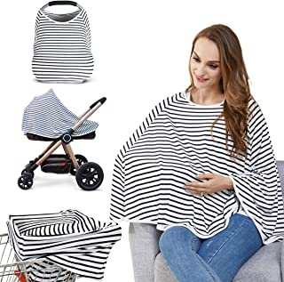 Baby Nursing Cover & Nursing Poncho – Multi Use Cover for Baby Car Seat Canopy,..