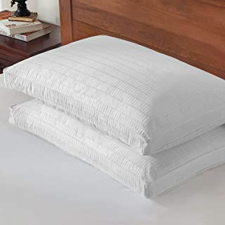 Goose Down Feather Pillow – 2 Pack Luxury Gusseted Bed Pillows for Sleeping with 2..
