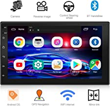 WZTO Double Din Car Stereo with GPS Navigation,7 inch Quad-Core Android 9.1 Touch Screen..