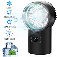 OVPPH Portable Air Conditioner Fan, Personal Space Mini Evaporative Air Cooler Fan Desk..