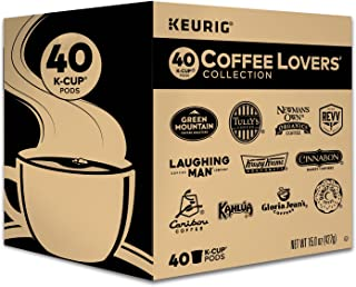 Keurig Coffee Lovers' Collection Variety Pack, Single-Serve Coffee K-Cup Pods Sampler, 40 Count