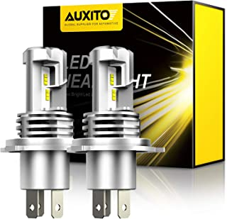 AUXITO H4 9003 LED Headlight Bulbs, 12000LM Per Set 6500K Xenon White for High and Low..