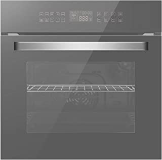 Empava 24 Inch Electric Single Wall Oven 10 Cooking Functions Deluxe 360° ROTISSERIE..