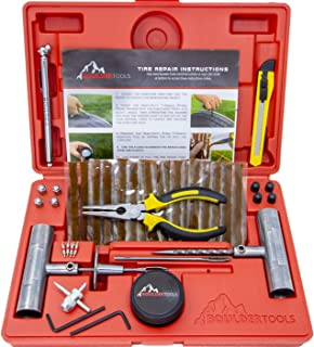Boulder Tools – Heavy Duty Tire Repair Kit for Car, Truck, RV, SUV, ATV,..