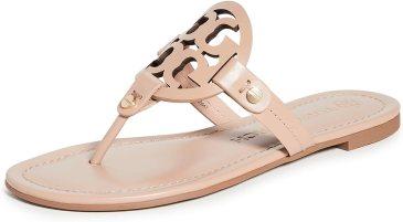 Amazon.com | Tory Burch Women's Miller Patent Thong Sandal | Flip-Flops