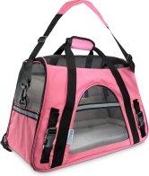 Pink soft pet carrier bag