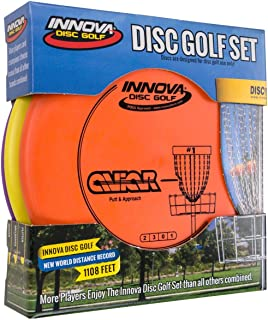 Innova Disc Golf Set – Driver, Mid-Range & Putter, Comfortable DX Plastic, Colors..
